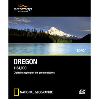 photo: Satmap National Geographic TOPO! Oregon SD Card us pacific states map application