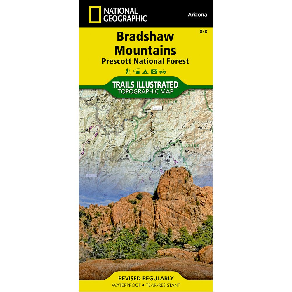 photo: National Geographic Bradshaw Mountains Map us mountain states paper map