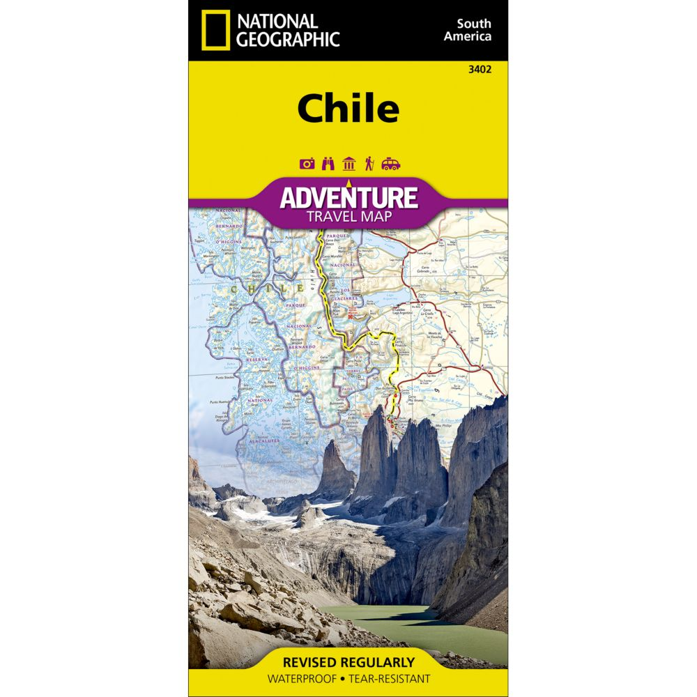 photo: National Geographic Chile Adventure Map international paper map