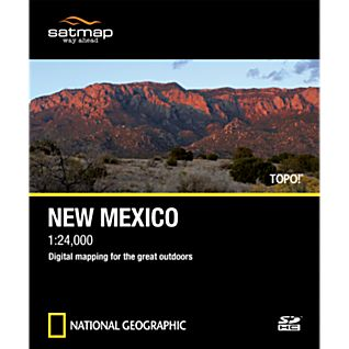 Satmap National Geographic TOPO! New Mexico SD Card