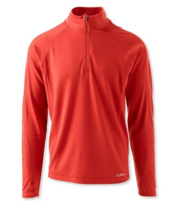 L.L.Bean Cresta Wool Midweight Base Layer, Quarter-Zip