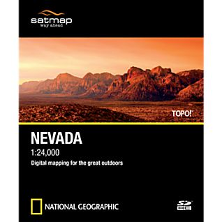 Satmap National Geographic TOPO! Nevada SD Card