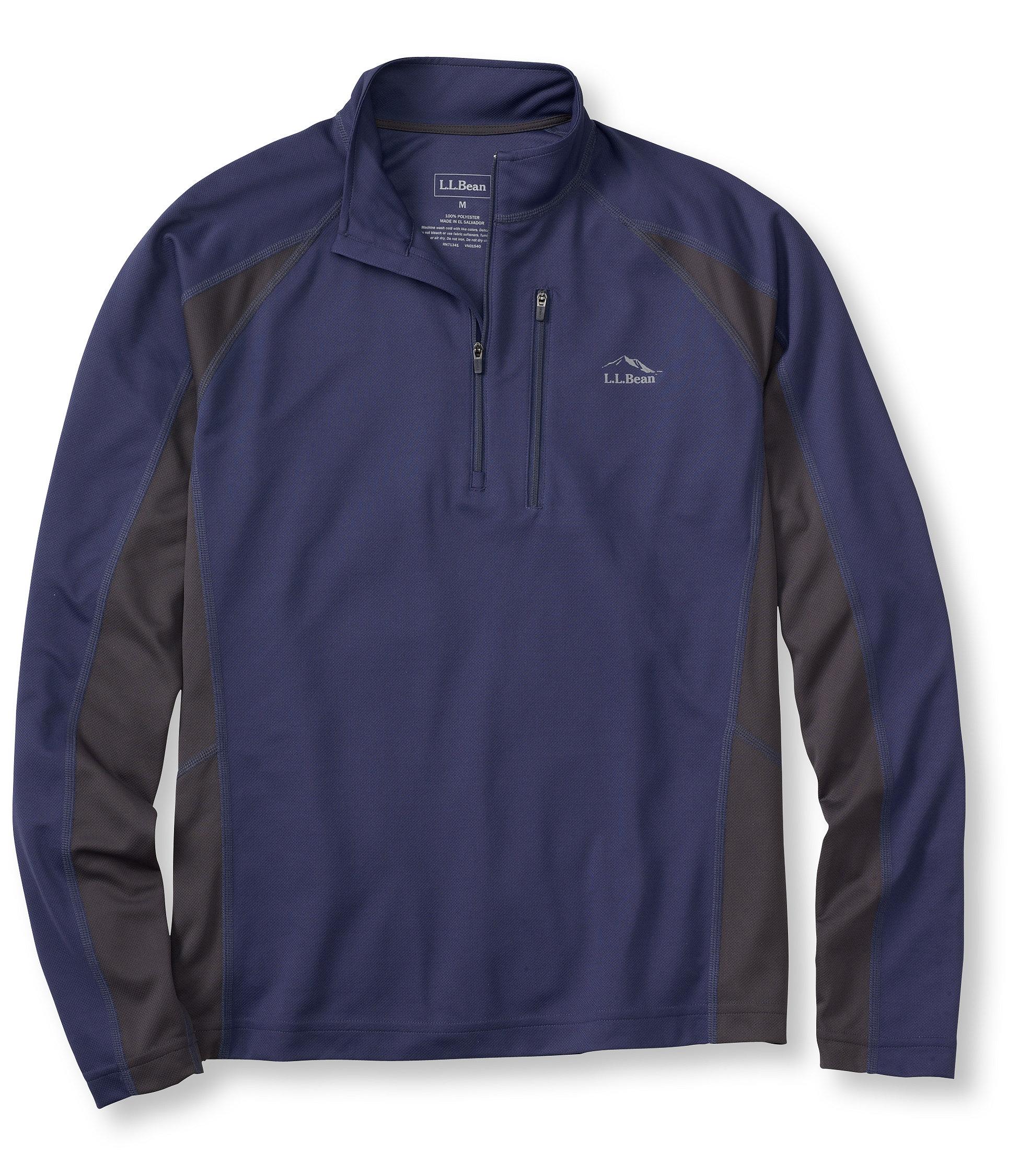 L.L.Bean Ridge Runner Shirt, Long-Sleeve Quarter-Zip