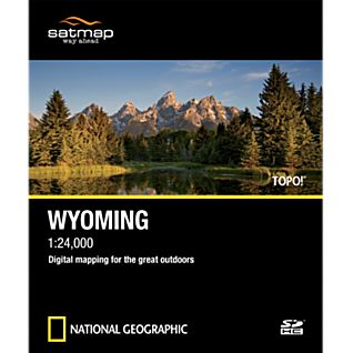 Satmap National Geographic TOPO! Wyoming SD Card