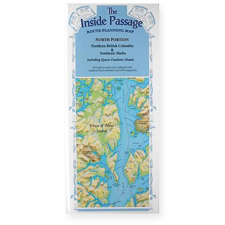 Fine Edge The Inside Passage Route Planning Map - Northern Portion