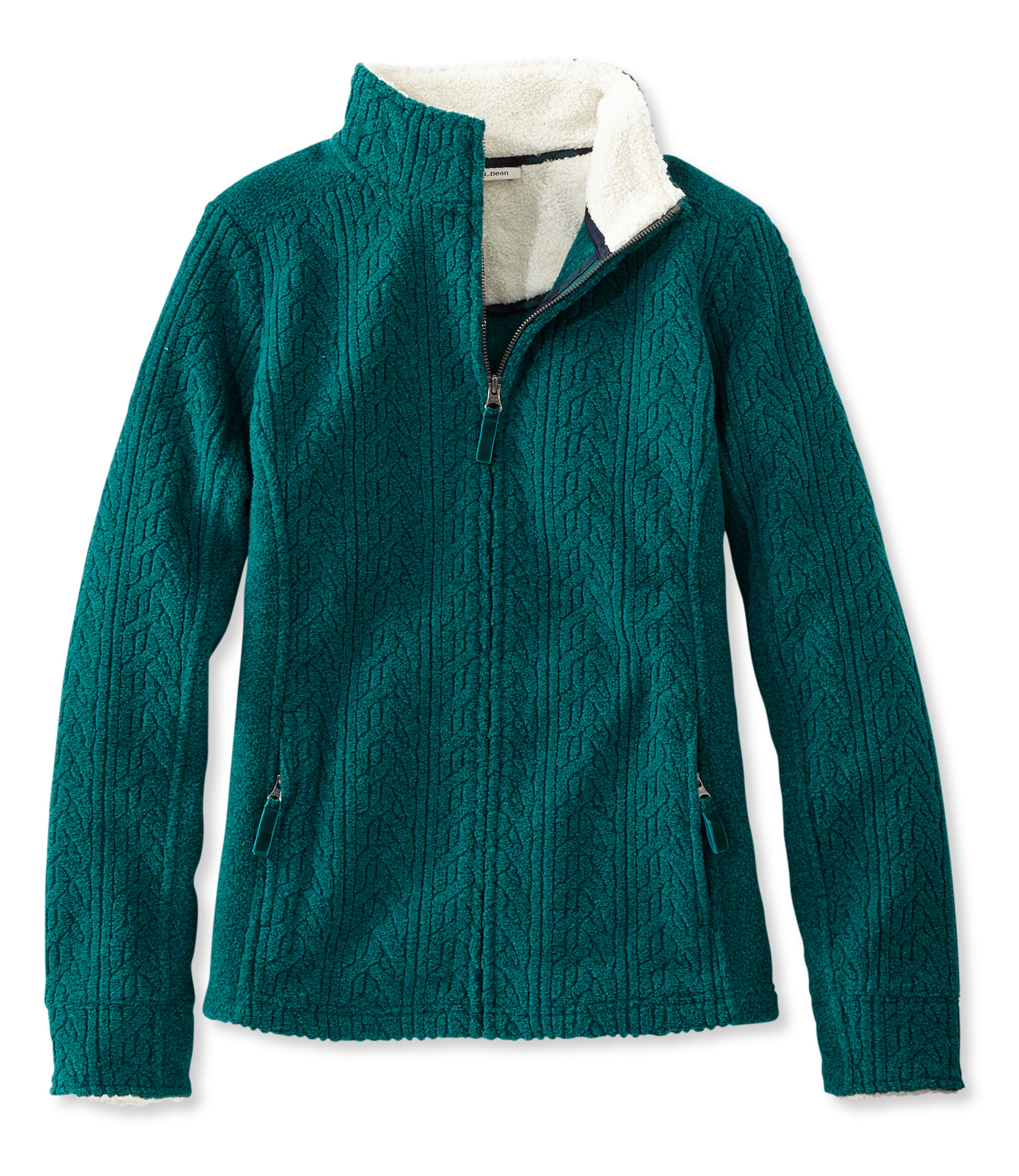 L.L.Bean Soft-Brushed Cable Fleece