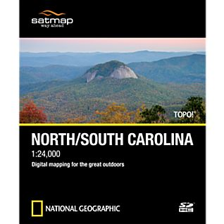 Satmap National Geographic TOPO! North/South Carolina SD Card