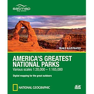 Satmap National Geographic Trails Illustrated: America's Greatest National Parks  SD Card