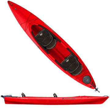 photo: Wilderness Systems Pamlico 135T Tandem with Rudder recreational kayak