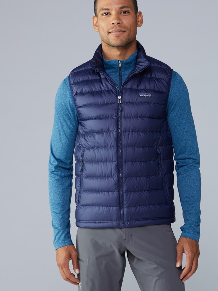 photo: Patagonia Men's Down Sweater Vest down insulated vest