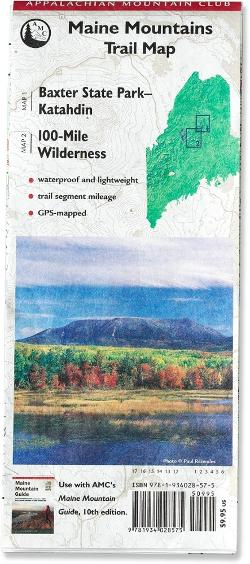 photo of a Appalachian Mountain Club us northeast map