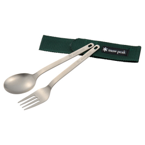 photo: Snow Peak Titanium Fork & Spoon Set utensil