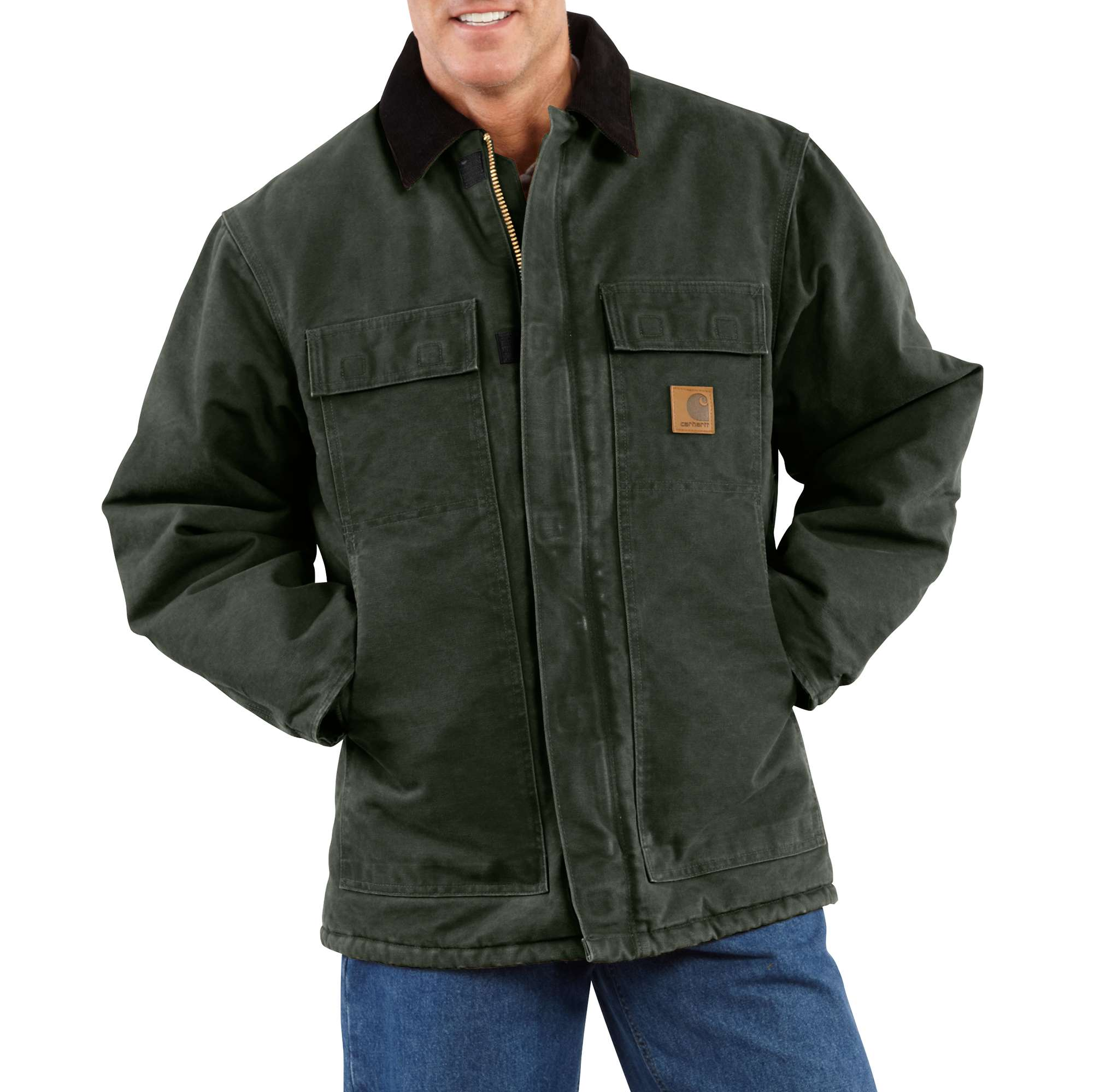 Carhartt Sandstone Traditional Coat/Arctic Quilt-Lined