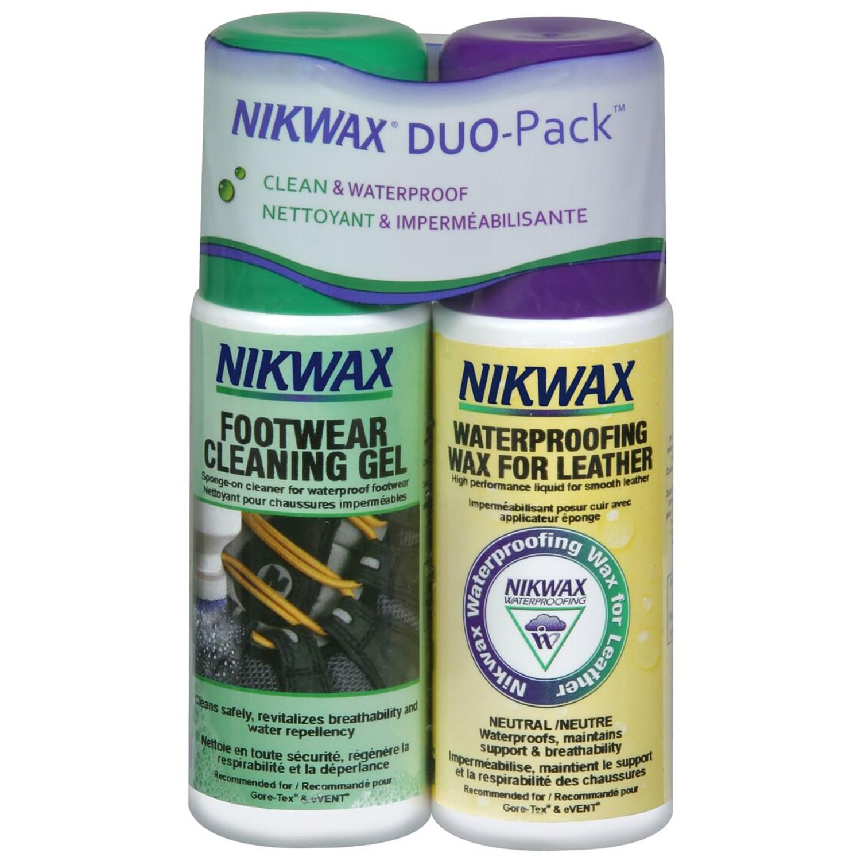 photo: Nikwax Footwear DuoPack Fabric & Leather footwear cleaner/treatment