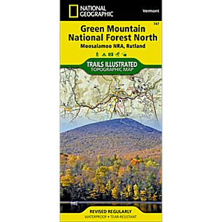 photo: National Geographic Green Mountain National Forest North us northeast paper map