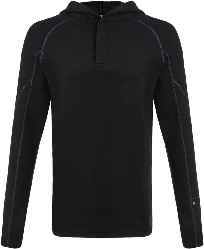 photo: Tasc Performance Men's Transit Henley Hoodie fleece top