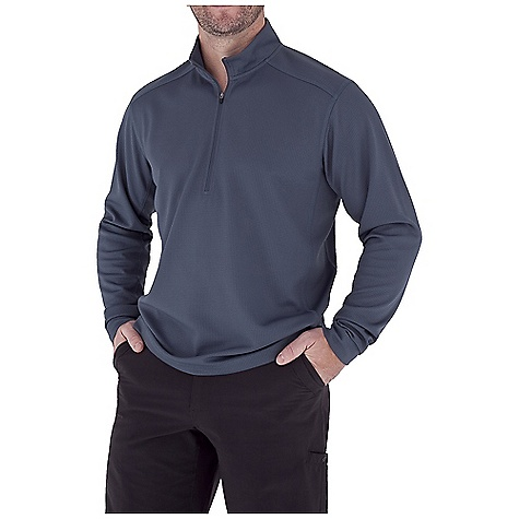 photo: Royal Robbins Performance Waffle 1/4 Zip Shirt hiking shirt