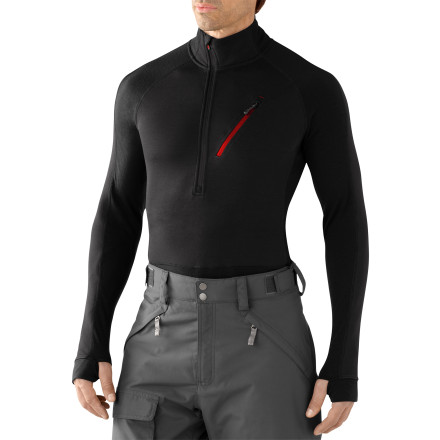 photo: Smartwool PhD HyFi Divide Half Zip long sleeve performance top