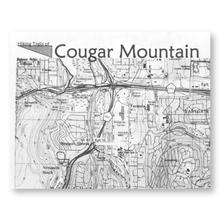 photo of a Issaquah Alps Trail Club us pacific states paper map