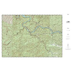 photo: MyTopo Waterproof Topo Map Tapoco us south map
