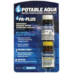 Potable Aqua Water Purification Tablets with P.A. Plus
