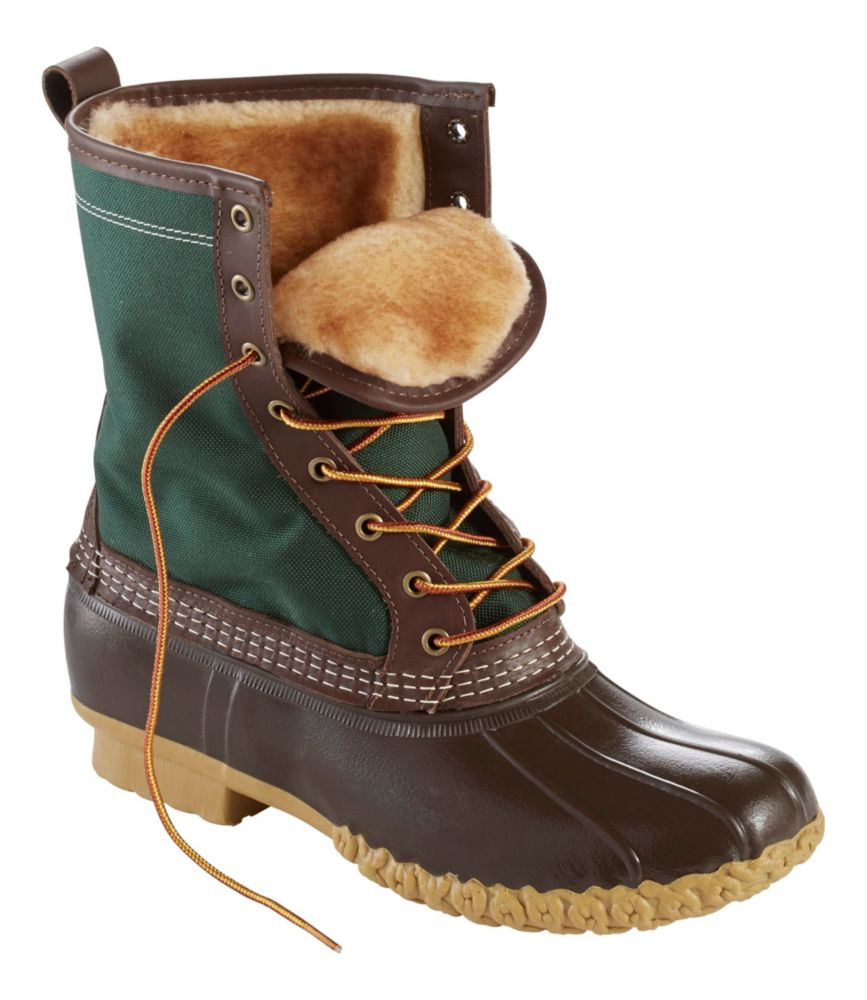 "photo: L.L.Bean Men's Bean Boots, 10"" Shearling-Lined winter boot"