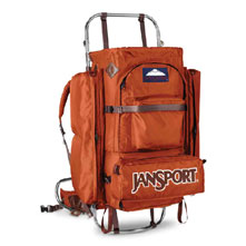 photo: JanSport D2 external frame backpack