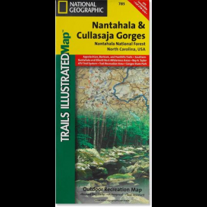 photo: National Geographic Nantahala & Cullasaja Gorges Trail Map us south paper map