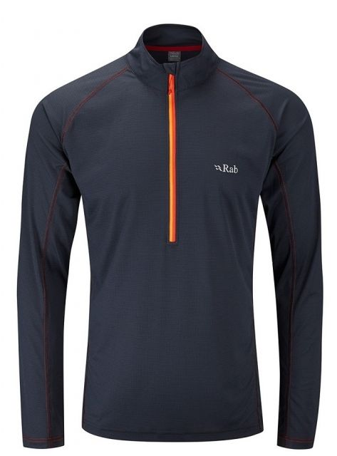 Rab Interval Long Sleeve Zip Tee
