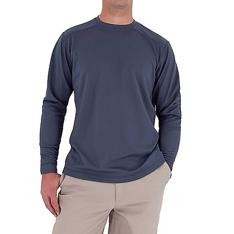 photo: Royal Robbins Performance Waffle Crew long sleeve performance top