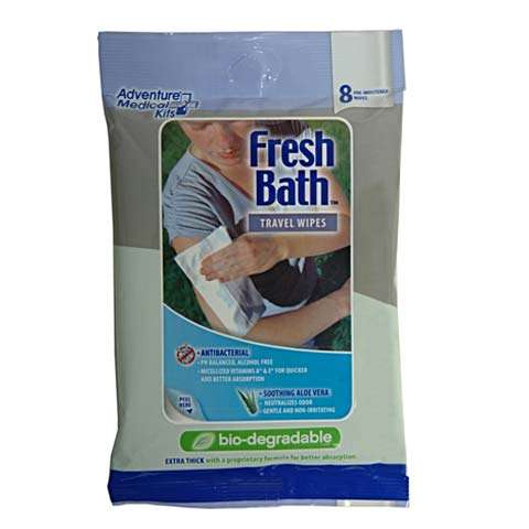 Adventure Medical Kits Fresh Bath Travel Wipes