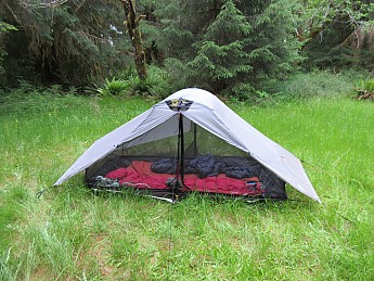 Here it is with the vestibules pulled up & Six Moon Designs Lunar Duo Reviews - Trailspace.com