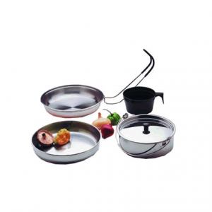 Texsport Backpackers Stainless Steel Cook Set