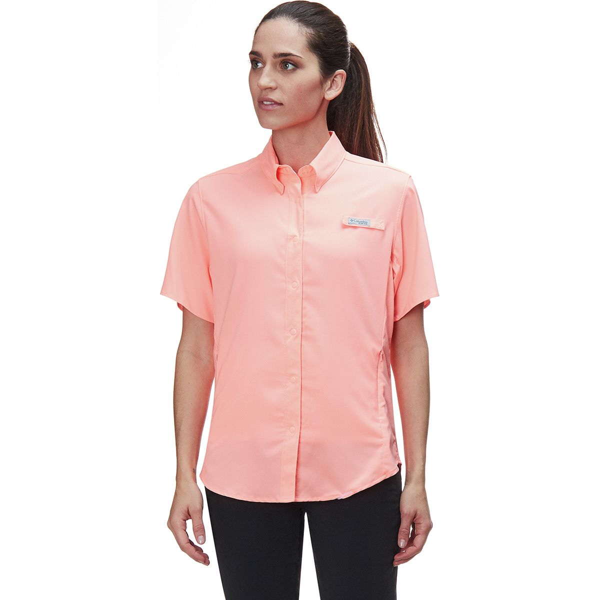 photo: Columbia Women's Tamiami II Short Sleeve Shirt hiking shirt