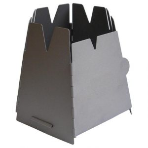 Vargo Hexagon Wood Stove Stainless Steel