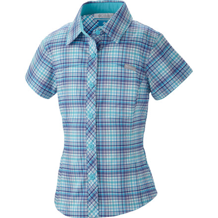 photo: Columbia Girls' Silver Ridge II Plaid Short Sleeve Shirt hiking shirt
