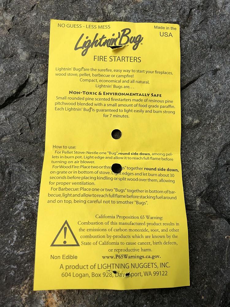 photo: Lightning Nuggets Lightnin' Bug fire starter