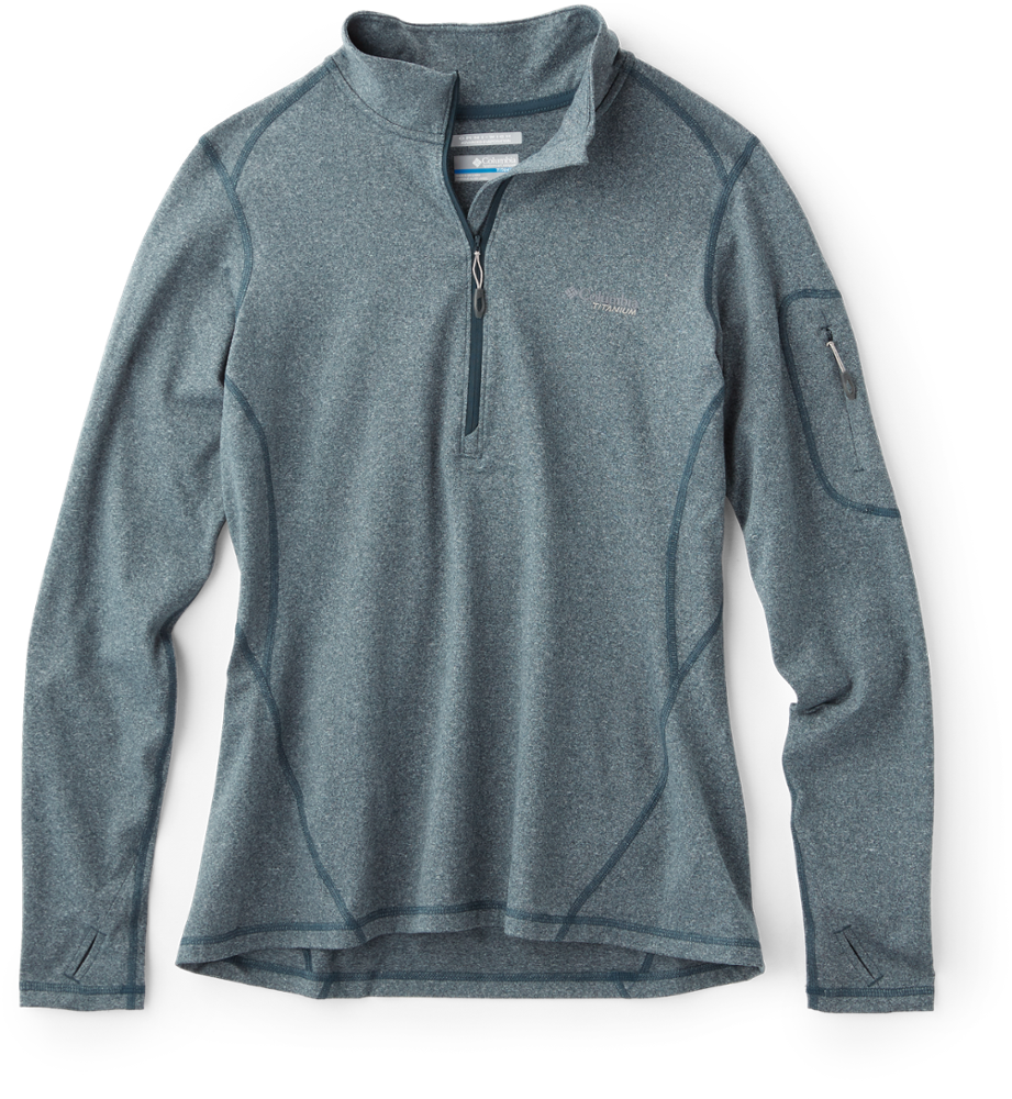 photo: Columbia Women's Diamond Peak Half Zip long sleeve performance top