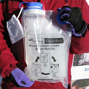 photo: Puralytics SolarBag 3L water purifier