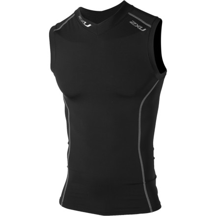 photo: 2XU Men's Sleeveless Compression Top short sleeve performance top