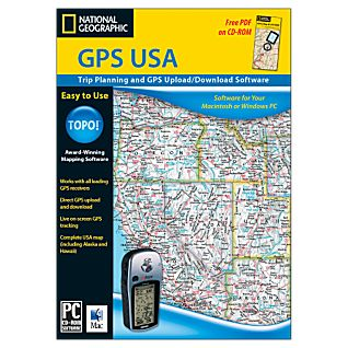 National Geographic TOPO! GPS USA CD-ROM