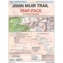 photo: Tom Harrison Maps Map Pack of the John Muir Trail us mountain states paper map