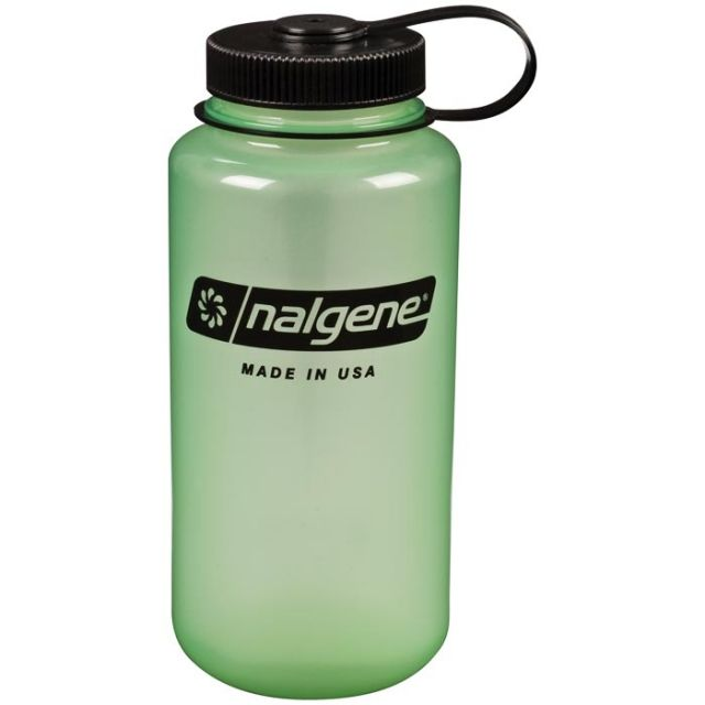 photo: Nalgene 32 oz Wide Mouth Glow water bottle