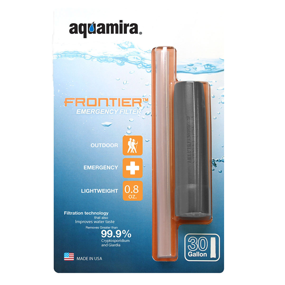 photo: Aquamira Frontier Emergency Water Filter bottle/inline water filter