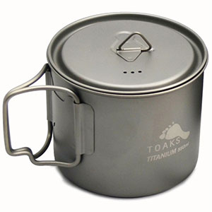 Toaks Light Titanium 550ml Pot (D95mm)