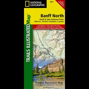 photo: National Geographic Banff North Trail Map canadian paper map