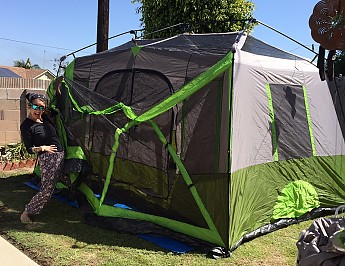 FullSizeRender-8-.jpg. Me being goofy with Ozark Trail 9 person instant ... & Ozark Trail 9 Person 2 Room Instant Cabin Tent with Screen Room ...