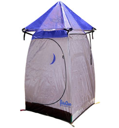 photo: Paha Que' The Tepee Shower & Outhouse tarp/shelter