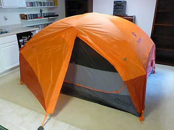 And after proper and somber disposal Old Blue is replaced by Big Orange a Marmot Limelight 3P Wife and I do like spacious comfort. : mountain hardwear lightwedge 2 tent - memphite.com