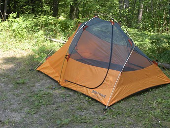 and the fly has two lightweight sewn-in  posts  on top that can be erected on a strip of velcro to address ventilation issues. This tent breathes fairly ... & Marmot Twilight 2P Reviews - Trailspace.com